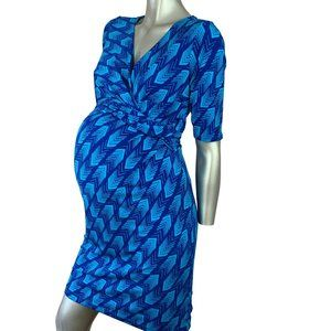 PEA IN THE POD | Maternity  Blue Faux Wrap Dress